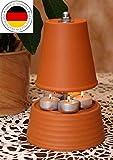▀ Teelichtofen ▀ für bis zu 5 Teelichter Teelichtheizung Teelichtkamin bemalbar Kerzenofen Tischkamin Mückenschutz Garten Terrasse bekannt aus Stern TV Duft Kerzen Heizung Wohnzimmer Ofen Deko