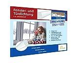 Fensterdichtung selbstklebend [SILIKON] Dichtungsband für Tür- und Fensterspalten [PREMIUM] - Für Spaltenbreiten von 1,5-7 mm – weiß