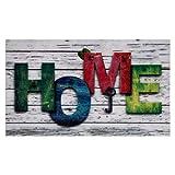 Valia Home Fußmatte - 3 Designs - Schmutzfangmatte Türmatte für Innen und Aussen - Fussmatte - Sauberlaufmatte rutschfest - Fußabtreter Haustür - Home Design 40 x 60 cm (Home 2)