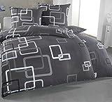 Kuscheli® Bettwäsche 135x200 4 teilig | ÖkoTex Zertifiziert & für Allergiker geeignet |Bettwäsche Set mit je 2 Bettbezügen 135 x 200 & Kissenbezügen 80x80 | modern Karos