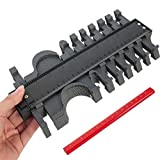 Konturenlehre Yimorex 10 Zoll/ 25cm Laminat Duplikator Profil Messwerkzeug, Fliesen Laminat Holz Markierungswerkzeug Kopierer mit Maßband unregelmäßiges Konturmessgerät für kreisförmige Rahmen (Rot)