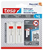 tesa Verstellbarer Klebenagel für Tapeten und Putz / Selbstklebender Nagel von tesa Powerstrips / 2 x 1 kg Halteleistung