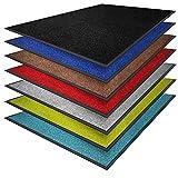 casa pura® Premium Fußmatte in attraktiver Optik | Schmutzfangmatte in 8 Größen | braun | 90x150cm