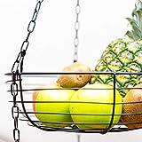 Libertink Obstkorb hängend - Küche Hängeobstkorb - Obstampel Hänge-Etagere Höhe individuell einstellbar
