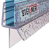 STEIGNER Duschdichtung, 80cm, Glasstärke 6/7/ 8 mm, Gerade PVC Ersatzdichtung für Dusche, UK03
