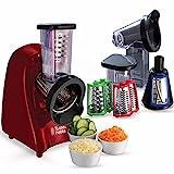 Russell Hobbs Schnitzelwerk Desire (3 Reibeeinsätze: Grob & Fein, Scheiben), 200W, BPA-frei & spülmaschinenfest, Gemüse-/Salatschneider (Reiben&Raspeln), elektrischer Zerkleinerer 22280-56