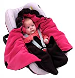 ByBoom Baby Winter-Einschlagdecke'Das Original mit dem Bären', Universal für Babyschale, Autositz, z.B. für Maxi-Cosi, Römer, für Kinderwagen, Buggy oder Babybett