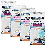 Heitmann Power Fleckensalz, effektiver Fleckenentferner, Multi Aktive Reingung gegen Flecken und Grauschleier, 4x500 g