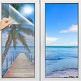 TOOELMON Spiegelfolie selbstklebend, Spiegelfolie Fenster Sichtschutz UV-Schutz Infrarot Wärmeschutzfolie Dachfenster Sonnenschutz Tönungsfolie [90x200 cm]