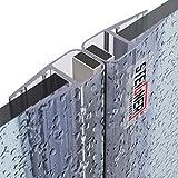 STEIGNER Magnetduschdichtung SET, 201cm, Glasstärke 6/7/ 8mm, Ersatzdichtung für 180 Grad Duschtür, UKM02, 2 Stück
