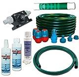 Wasserbetten Service Set Mono mit Bohrmaschinenpumpe Conditioner Vinylreiniger Schlauch Aqua REFIT