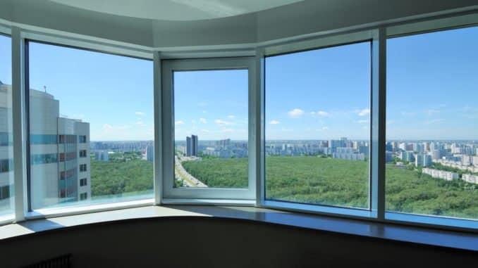 Fenster mit Wärmeschutzfolie