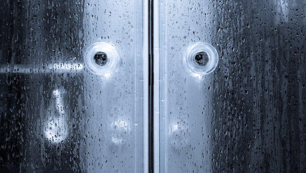 beidseitig öffnende Duschkabinentür