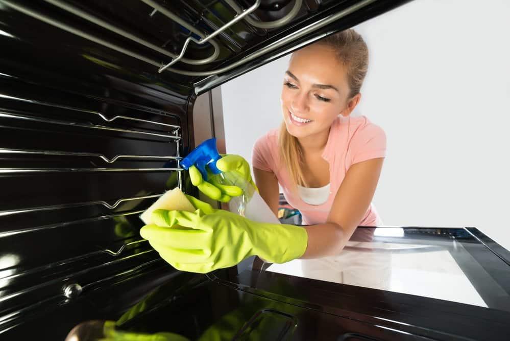 Backofenspray wird im Ofen eingesetzt