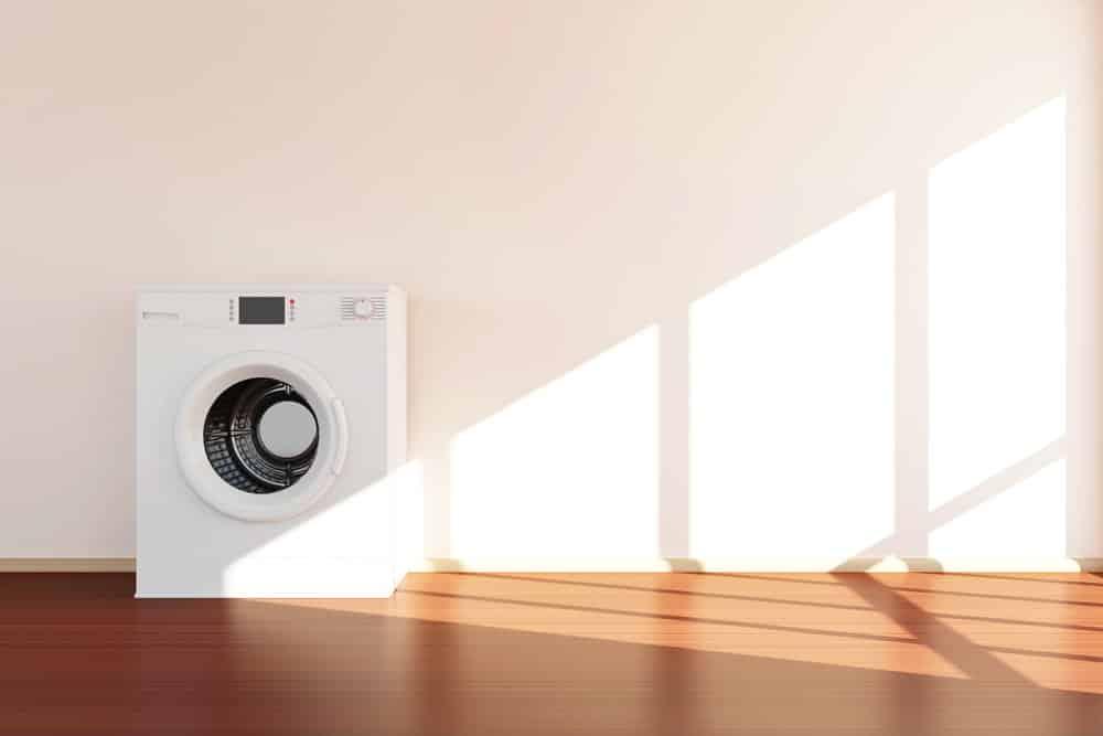 Ohne Antivibrationsmatte ist die Wäsche laut für den Nachbarn