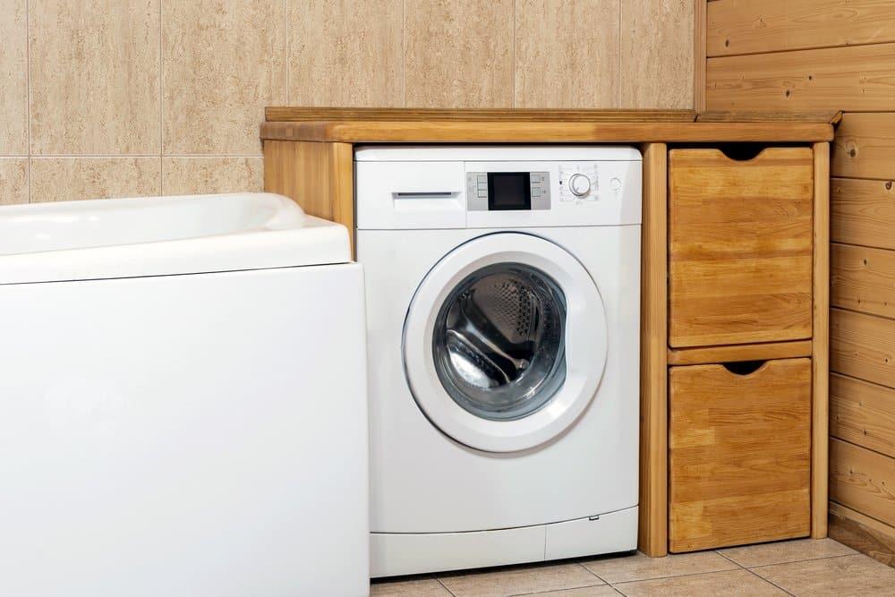 Eine unterbaufähige Waschmaschine