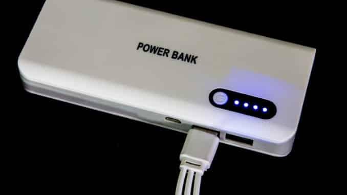 Powerbank für Lichtbogen Feuerzeug