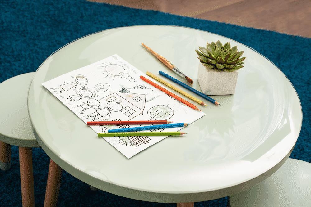 Tischschutzfolie für alle Tischformen