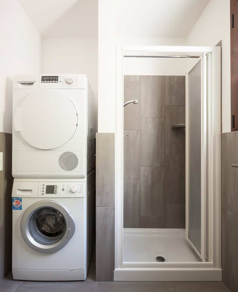 Zwischenbaurahmen Waschmaschine Trockner.