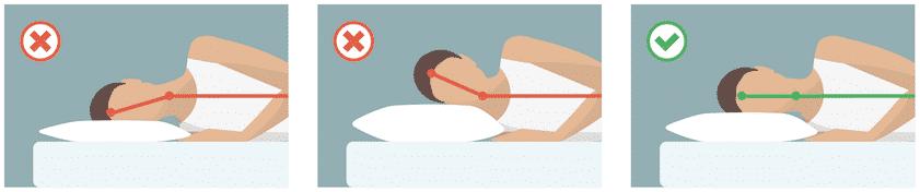 Orthopädisches Kissen wichtig für Seitenschläfer