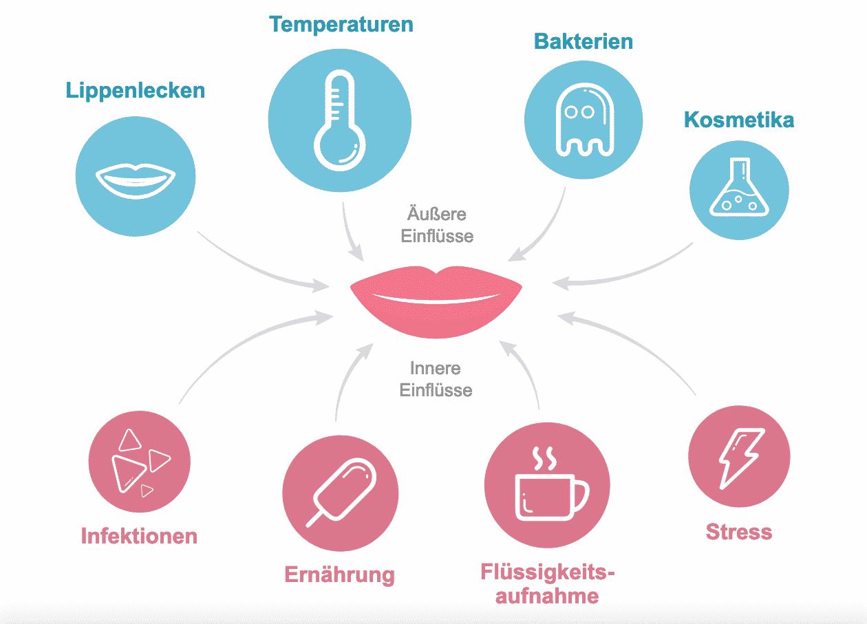 Trockene Lippen können viele Ursachen haben