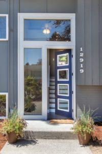 Haustür ohne Vordach